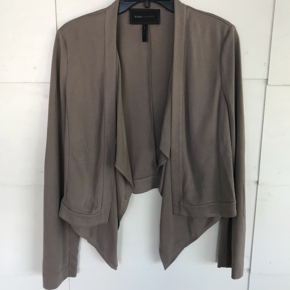 e5bdce91f862ab BCBGMaxAzria Jackets   Blazers - BCBG Max Azria Sz S Brown Open Front  Donnie Jacket